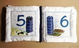 & Counting by Jenny George, Artist Book, Cotton fabric
