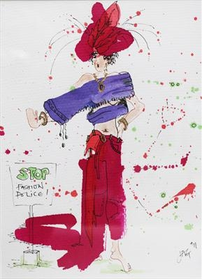 Fashion Police by jagetc, Drawing, Pen & ink sketch
