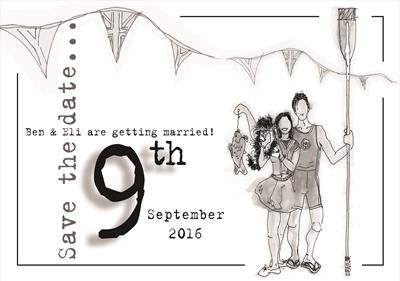 save the date by Jenny George, Drawing