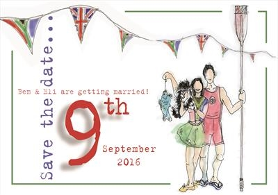save the date colour by Jenny George, Drawing